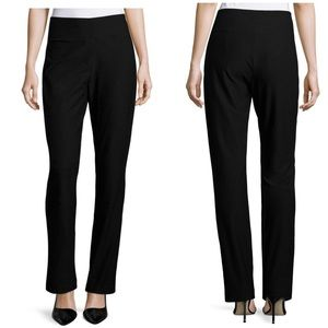 Eileen Fisher Black Stretch Crepe Pants
